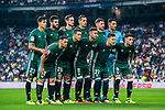 Real Betis squad poses for photos during the La Liga 2017-18 match between Real Madrid and Real Betis at Estadio Santiago Bernabeu on 20 September 2017 in Madrid, Spain. Photo by Diego Gonzalez / Power Sport Images