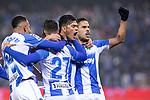 CD Leganes's  Oscar Rodriguez Arnaiz, Youssef En-Nesyri and Jose Luis Garcia Recio during La Liga match 2019/2020 round 16<br /> December 8, 2019. <br /> (ALTERPHOTOS/David Jar)