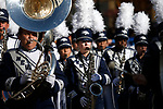 The University of Nevada, Reno Pride of the Sierra Wolf Pack Marching Band performs in the Nevada Day parade in Carson City, Nev., on Saturday, Oct. 26, 2019.  <br /> Photo by Cathleen Allison/Nevada Momentum