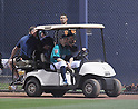 MLB: Ichiro of Seattle Mariners injures right leg during MLB spring training game