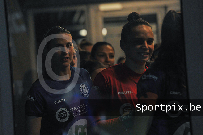 Gent's defender Heleen Jacques (4) pictured before a female soccer game between  AA Gent Ladies and Femina White Star Woluwe on the third matchday of the 2020 - 2021 season of Belgian Scooore Womens Super League , friday 2 nd of October 2020  in Oostakker , Belgium . PHOTO SPORTPIX.BE | SPP | STIJN AUDOOREN