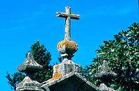 Carnota,  großer Hórreo (Speicher), Galicien, Spanien