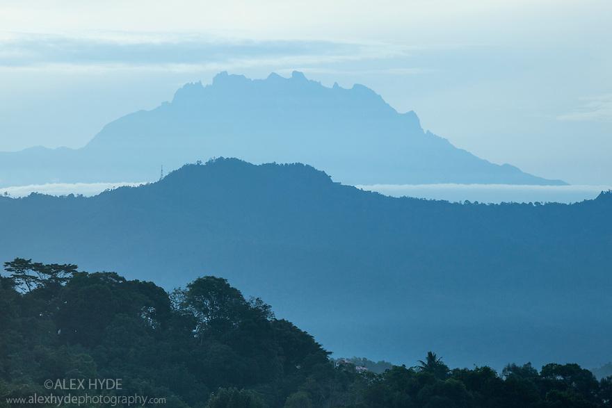 Mount Kinabalu, 4,095 metres (13,435 ft) above sea level, Sabah, Borneo, Malaysia.