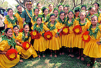 EDITORIAL ONLY. Hula performers at Ka Hula Piko Festival on Molokai