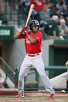 Quad Cities River Bandits Nick Longmire #12 during a game against the Fort Wayne TinCaps at Parview Field on July 25, 2011 in Fort Wayne, Indiana.  Quad Cities defeated Fort Wayne 11-10.  (Mike Janes/Four Seam Images)