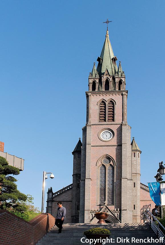 Katholische Kathedrale von1898 in Myeongdong, Seoul, Südkorea, Asien<br /> Catholic Cathedral built 1898 in Myeongdong, Seoul, South Korea, Asia