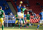 St Johnstone v Preston North End…13.07.21  McDiarmid Park<br />Murray Davidson and Lewis Leigh<br />Picture by Graeme Hart.<br />Copyright Perthshire Picture Agency<br />Tel: 01738 623350  Mobile: 07990 594431