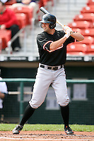 May 9, 2009:  Third Baseman Scott Moore of the Norfolk Tides, International League Class-AAA affiliate of the Baltimore Orioles, at bat during a game at Coca-Cola Field in Buffalo, FL.  Photo by:  Mike Janes/Four Seam Images