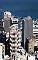aerial photograph 333 Bush Street, 101 Montgomery Street, 44 Montomgery Street skyscrapers San Francisco