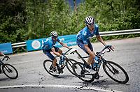 Carlos Verona (ESP/Movistar) up the climb towards La Plagne (HC/2072m/17.1km@7.5%) <br /> <br /> 73rd Critérium du Dauphiné 2021 (2.UWT)<br /> Stage 7 from Saint-Martin-le-Vinoux to La Plagne (171km)<br /> <br /> ©kramon
