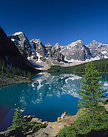 Moraine Lake and Valley of the Ten Peaks Banff National Park, Alberta.