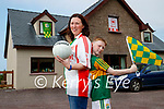 Claire O'Driscoll originally from Tyrone with her son Eoghan at their home in Camp.