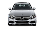 Car photography straight front view of a 2017 Mercedes Benz C Class C350e 4 Door Sedan