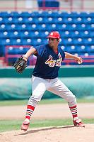 Manuel De La Cruz of the Gulf Coast League Cardinals during the game at Space Coast Stadium in Viera, Florida July 11 2010.  Photo By Scott Jontes/Four Seam Images
