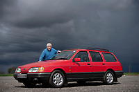 BNPS.co.uk (01202) 558833<br /> Pic: ZacharyCulpin/BNPS<br /> <br /> The Sierra has weathered every storm<br /> <br /> Thrifty Clive Serrell is still driving his Ford Sierra 32 years after buying it.<br /> <br /> Clive paid £17,000 for the 1988 Sierra 4x4 estate that he has used as his daily runaround ever since.<br /> <br /> Remarkably, after three decades and 126,000 miles on the clock, the only major work the motor has ever required has been for a new clutch 20 years ago.<br /> <br /> Since then it has been used by Clive, 68, on countless family holidays and days out.