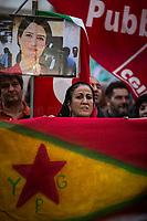 14.10.2019 - CGIL, CISL, UIL: Trade Unions' Demo In Solidarity With Kurdish People #ConIlPopoloCurdo