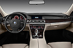 Straight dashboard view of a 2011 BMW 7 Series Active Hybrid .