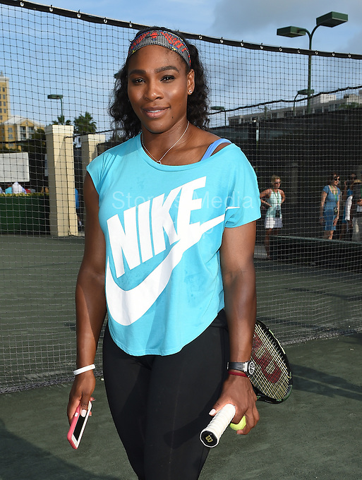 KEY BISCAYNE, FL - MARCH 24: (EXCLUSIVE COVERAGE) Serena Williams at the Sixth Annual Ritz-Carlton Key Biscayne, Miami All-Star Charity Tennis Event at the Ritz Hotel on March 24, 2014 in Key Biscayne, Florida.<br /> <br /> <br /> People:  Serena Williams<br /> <br /> Transmission Ref:  FLXX<br /> <br /> Must call if interested<br /> Michael Storms<br /> Storms Media Group Inc.<br /> 305-632-3400 - Cell<br /> 305-513-5783 - Fax<br /> MikeStorm@aol.com