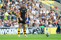 Nick Robinson of London Wasps takes a penalty kick during the Aviva Premiership match between London Wasps and Harlequins at Twickenham on Saturday 1st September 2012 (Photo by Rob Munro).