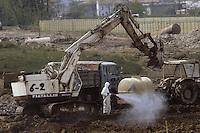 - Disastro ecologico di Seveso, fuga di diossina dallo stabilimento ICMESA (compagnia Givaudan), lavori di decontaminazione dell'area inquinata (aprile 1983)....- Ecological disaster of Seveso, leak of dioxine from ICMESA plant  (Givaudan company ), works of decontamination of the polluted area (April 1983)