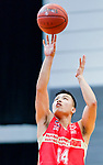 Hong Yi Yiang #14 of Nam Ching Basketball Team concentrates prior to a free throw during the Hong Kong Basketball League game between Eagle and Nam Ching at Southorn Stadium on June 22, 2018 in Hong Kong. Photo by Yu Chun Christopher Wong / Power Sport Images