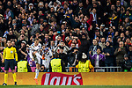 Cristiano Ronaldo of Real Madrid celebrates his goal during the UEFA Champions League 2017-18 Round of 16 (1st leg) match between Real Madrid vs Paris Saint Germain at Estadio Santiago Bernabeu on February 14 2018 in Madrid, Spain. Photo by Diego Souto / Power Sport Images