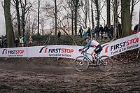 race leader Katie Compton (USA/KFC Racing p/b Trek/Panache)<br /> <br /> Women Elite Race<br /> UCI CX Worlds 2018<br /> Valkenburg - The Netherlands