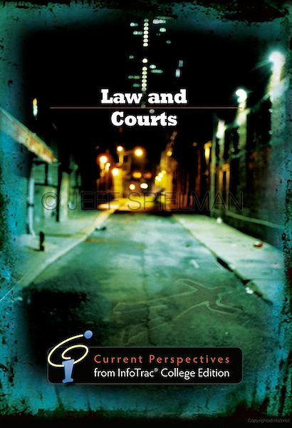 LAW AND COURTS - Current Perspectives from InfoTrac© College Edition<br /> <br /> Published in 2011<br /> Educational Text Book Cover<br /> Published by Wadsworth Cengage Learning, Belmont, CA<br /> <br /> PHOTO AVAILABLE FOR COMMERCIAL OR EDITORIAL LICENSING THRU MY STOCK AGENT GETTY IMAGES. Please go to www.gettyimages.com and search for image # a0142-000024.