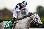 October 04, 2020:  Valiance with Luis Saez up defeats Ollies Candy and Joel Rosario to win the Spinster Stakes at Keenland Racecourse, in Lexington, Kentucky on October 04, 2020.  Evers/Eclipse Sportswire/CSM