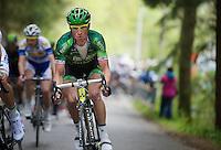 Thomas Voeckler (FRA/Europcar) up the Côte de Stockeu (aka 'Stèle Eddy Merckx')<br /> <br /> Liège-Bastogne-Liège 2014