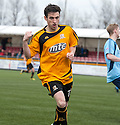 Alloa's Kevin Cawley celebrates after he scores their winning goal.