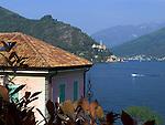 CHE, Schweiz, Tessin, Blick über den Luganer See auf Morcote | CHE, Switzerland, Ticino, view across Lago Lugano at Morcote