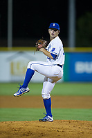 Burlington Royals relief pitcher Tyler Zuber (36) in action against the Danville Braves at Burlington Athletic Stadium on August 12, 2017 in Burlington, North Carolina.  The Braves defeated the Royals 5-3.  (Brian Westerholt/Four Seam Images)
