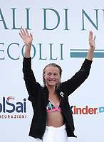 Swimming 55° Settecolli trophy Foro Italico, Rome on June 30, June 2018.<br /> Swimmer Sarah Sjoestroem, of Sweden, waves to fans after winning the women's 100 meters Butterfly at the Settecolli swimming trophy in Rome, on June 30, 2018.<br /> UPDATE IMAGES PRESS/Isabella Bonotto