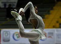 BOGOTÁ - COLOMBIA, 09-09-2018: Valentina Camponigro, deportista de Argentina, durante prueba de Danza Libre, Programa Largo, Infantil Damas, en el Campeonato Panamericano Patinaje Artístico, en el Coliseo El Salitre de la Ciudad de Bogotá. / Valentina Camponigro, sportwoman from Argentina, during the Long Program Infantil Ladies Freeskating test, in the Panamerican Figure Skating Championship the El salitre Coliseum in Bogota City. Photo: VizzorImage / Luis Ramirez / Staff.