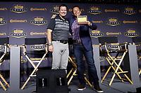 IMSA Continental Tire SportsCar Challenge<br /> Series Awards Banquet<br /> Road Atlanta, Braselton GA<br /> Friday 6 October 2017<br /> Travis Roffler and Eric Foss with Championship ring<br /> World Copyright: Michael L. Levitt<br /> LAT Images