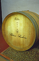 European oak medium toast. Oak barrel aging and fermentation cellar. Chateau de la Soucherie, anjou, Loire, France