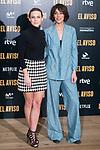 "Aura Garrido and Belen Cuesta attends to the presentation of the film ""El Aviso"" at URSO Hotel in Madrid , Spain. March 19, 2018. (ALTERPHOTOS/Borja B.Hojas)"