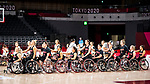 Tokyo 2020 - Wheelchair Basketball // Basketball en fauteuil roulant.<br /> Canada takes on Germany in a women's preliminary game // Le Canada affronte le Japon dans un match préliminaire masculin. 28/08/2021.