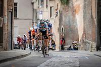 Remco Evenepoel (BEL/Deceuninck-Quick Step) leading the front group up the Sint-Antoniusberg<br /> <br /> Men Elite – Road Race (WC)<br /> Race from Antwerp to Leuven (268.3km)<br /> <br /> ©kramon