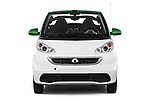 Car photography straight front view of a 2013 Smart FOR TWO Electric Drive 2 Door Convertible Front View