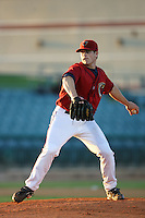 April 19 2009: Shane Wolf of the Lancaster JetHawks pitches against the High Desert Mavericks at Clear Channel Stadium in Lancaster,CA.  Photo by Larry Goren/Four Seam Images
