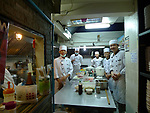 Chefs and kitchen staff in a Japanese restuarant in Bangkok, Thailand