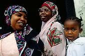 Zanzibar, Tanzania. Muslim women and girl.