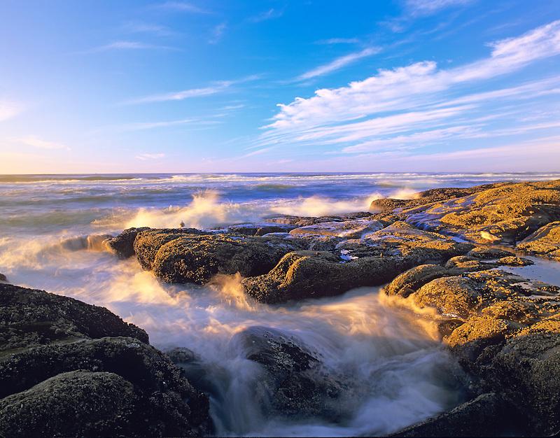 Waves at sunset. Smelt Sands State Park, Oregon