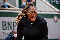 28th September 2020, Roland Garros, Paris, France; French Open tennis, Roland Garros 2020;   Serena WILLIAMS USA reacts during her match against Kristie AHN USA in the Philippe Chatrier court on the first round of the French Open