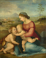 Full title: The Madonna and Child with Saint John<br /> Artist: Attributed to Fra Bartolommeo<br /> Date made: perhaps about 1516<br /> Source: http://www.nationalgalleryimages.co.uk/<br /> Contact: picture.library@nationalgallery.co.uk<br /> <br /> Copyright © The National Gallery, London