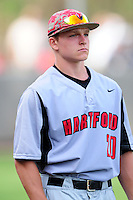 University of Hartford Hawks outfielder Sebastian DiMauro (20) during a game versus the Boston College Eagles at Pellagrini Diamond at Shea Field on May 9, 2015 in Chestnut Hill, Massachusetts. (Ken Babbitt/Four Seam Images)