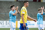 Forfar v St Johnstone….27.07.19      Station Park     Betfred Cup       <br />Sean Burns and Connor Coupe applaud the Forfar fans<br />Picture by Graeme Hart. <br />Copyright Perthshire Picture Agency<br />Tel: 01738 623350  Mobile: 07990 594431