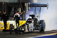 Sept. 16, 2011; Concord, NC, USA: NHRA top fuel dragster driver Larry Dixon during qualifying for the O'Reilly Auto Parts Nationals at zMax Dragway. Mandatory Credit: Mark J. Rebilas-US PRESSWIRE
